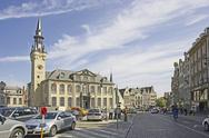 Stock Photo of Belgium, Flanders. Town of Lier, town hall and the belfry (1369 )