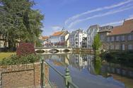 Stock Photo of Belgium, Flanders, town of Lier, Nete canal