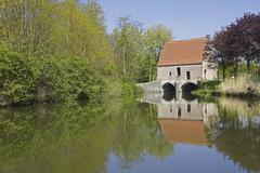 Belgium. Flanders. Town of Lier, the Little Nete river Stock Photos