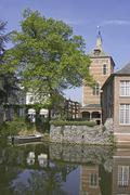 Belgium, Flanders, town of Lier, the Zimmer tower 14e century Stock Photos