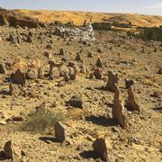 Afrikka, Algeria, Sahara, Saoura alue, Bakthi palmulehdon, muslimi hautausmaa Kuvituskuvat