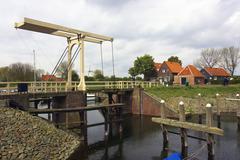 Europe, Netherlands, Zeeland, Zeeland, Veere the drawbridge Stock Photos