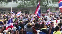Anti-Government Protesters In Bangkok Thailand Stock Footage