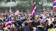 Stock Video Footage of Anti-Government Protesters In Bangkok Thailand