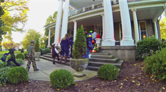 Halloween Trick or Treating 1 HD Stock Footage