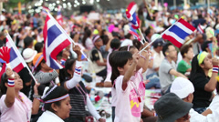 Anti-Government Protesters In Bangkok Thailand Wearing Pink Stock Footage