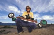 Stock Photo of Man with skateboard