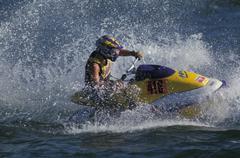 Jet ski, Comp. Men - stock photo