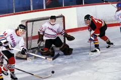 Ice hockey competition, men - stock photo