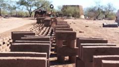 Adobe Brick Making Stacked Stock Footage
