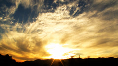 Heavenly Sunset Cloudscape Timelapse Stock Footage