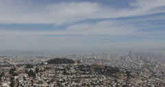 Ultra HD 4K San Francisco Bay Aerial View Skyline, Downtown Cityscape from Hills Stock Footage
