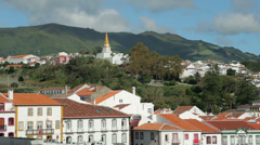 General view of angra do heroismo, terceira island, azores, portugal Stock Footage