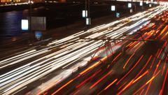 Stock Photo of Night road