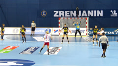 Women's handball world championship - stock footage