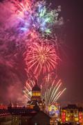 Fireworks in Cluj Napoca - stock photo