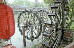waterwheel - stock photo