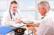Stock Photo of aeromedical exam
