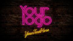 Neon logo Stock After Effects