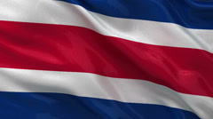 Flag of Costa Rica seamless loop Stock Footage