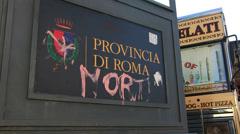 Provincia di Roma (graffiti - MORTI - 'DEAD') 1 Stock Footage