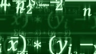 Stock Video Footage of Mathematical formulas