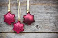 Stock Photo of hanging christmas stars