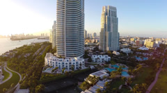 Continuum Towers Miami Beach - stock footage