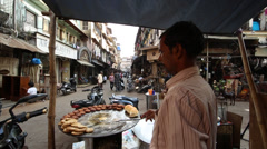 Street food of Mumbai, India Stock Footage