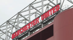 Manchester United Old Trafford Stock Footage