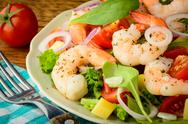 Stock Photo of fresh and healthy shrimp salad