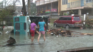 Stock Video Footage of Survivors In Devastated Streets Tacloban After Typhoon Haiyan