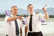 Stock Photo of airline pilots