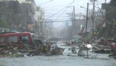 Mass Storm Surge Devastation Aftermath Super Typhoon Haiyan Stock Footage