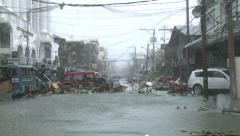 Storm Surge Destruction Super Typhoon Haiyan Aftermath Stock Footage