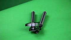 Can opener turning on green screen Stock Footage