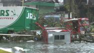 Stock Video Footage of Typhoon Haiyan Devastation Storm Surge Flooding Tacloban