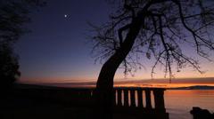 Tropical scene - Sunset Stock Footage