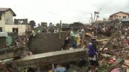 Stock Video Footage of Typhoon Haiyan Storm Surge Destruction In Tacloban
