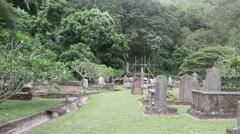 British Garrison Cemetery in Kandy Stock Footage