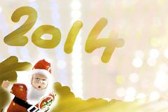 Santa new year Stock Illustration