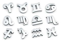 Zodiac sign,  complete set Stock Illustration