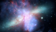 Galaxy Fly through Space Flight Seamless Loop Stock Footage
