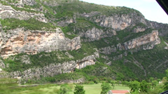 Moraca Canyon from the train to Belgrade Stock Footage