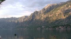 Kotor Bay at Sunset - Montenegro Stock Footage