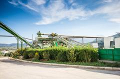 olive oil industry in cordoba, spain - stock photo