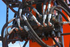 hydraulic system - stock photo