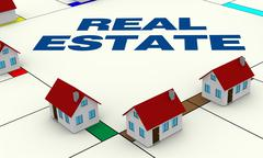 concept of real estate - stock illustration