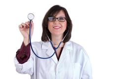 Stock Photo of sympathetic healthcare intern with stethoscope