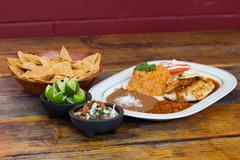Mexica meal Stock Photos
